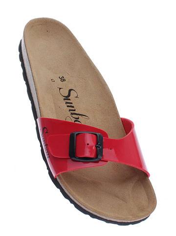 "Sunbay Slippers ""Jasmin"" rood"