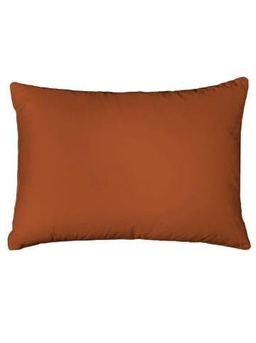 Heckett Lane Perkalowa poszewka w kolorze musztardowym na poduszkę