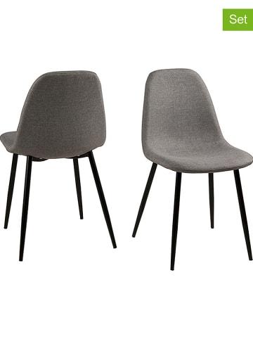 """AC Design 4-delige set: eetkamerstoelen """"Wilma"""" lichtgrijs - (B)44,5 x (H)84 x (D)56 cm"""