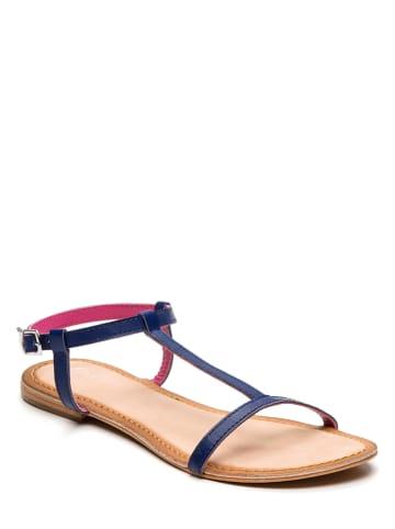 Whitesun Leren sandalen donkerblauw
