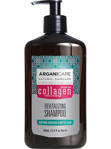 """Argani Care Shampoo """"Collageen - voor dun & beschadigd haar"""", 400 ml"""