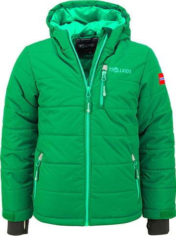 """Trollkids Kurtka narciarska """"Hemsedal"""" w kolorze zielonym"""