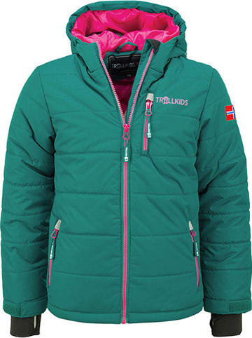 """Trollkids Ski-/snowboardjas """"Hemsedal"""" groen/roze"""