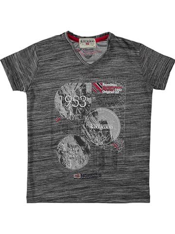 """Geographical Norway Koszulka """"Jembleme"""" w kolorze antracytowym"""
