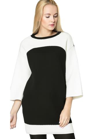 Deni Cler Sukienka w kolorze czarno-białym