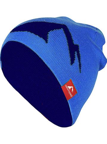 "Westfjord Omkeerbare beanie ""Westfjord"" blauw/donkerblauw"