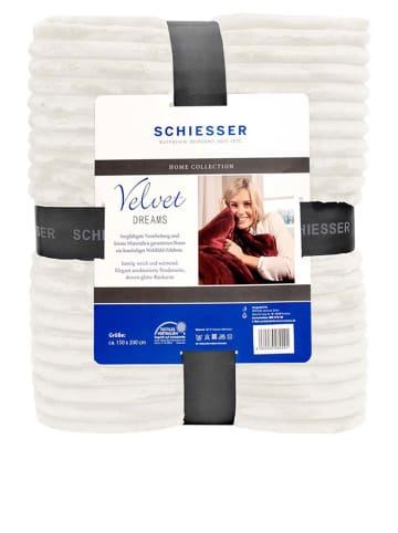 """Schiesser Plaid """"Velvet Dreams"""" crème"""