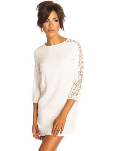 """Saint Germain Paris Sukienka """"Valie"""" w kolorze białym"""