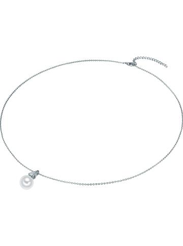 Carat 1934 Srebrny naszyjnik z zawieszką z perłą - dł. 50 cm