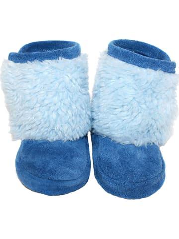 Hobea Zimowe buciki niemowlęce w kolorze błękitnym