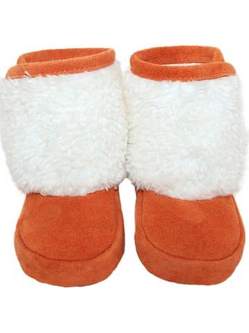 Hobea Zimowe buciki niemowlęce w kolorze pomarańczowym
