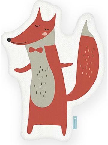 """Little nice things Poduszka """"Fox"""" w kolorze czerwono-szarym - 42 x 21 cm"""