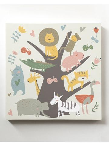 "Little nice things Obraz ""Animal Tree"" - 40 x 40 cm"