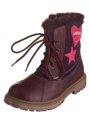 Lelli Kelly Leren boots auberginekleurig