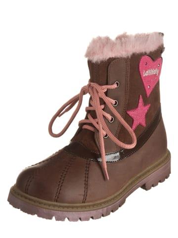 Lelli Kelly Leren boots bruin/lichtroze
