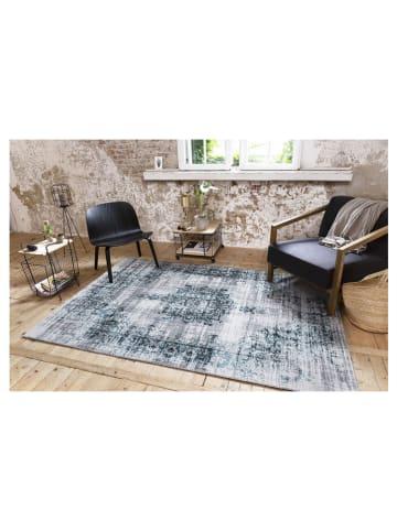 """Lifa Living Laagpolig tapijt """"Cool Vintage"""" grijs/blauw"""