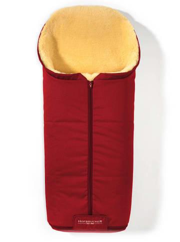 """Hofbrucker Voetenzak met lamsvacht """"Iglu"""" rood - (L)95 x (B)35 cm"""