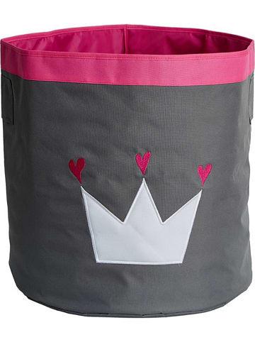 STORE IT Koszyk w kolorze szaro-różowym - wys. 44 x Ø 44 cm