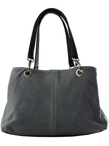 ORE10 Leder-Henkeltasche in Grau - (B)32 x (H)20 x (T)14 cm