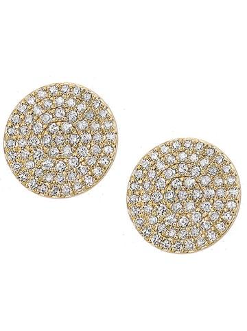 Revoni Gouden oorstekers met diamanten