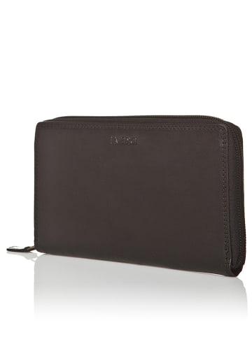 I MEDICI FIRENZE Skórzany portfel w kolorze czarnym - 11 x 19 x 2,5 cm