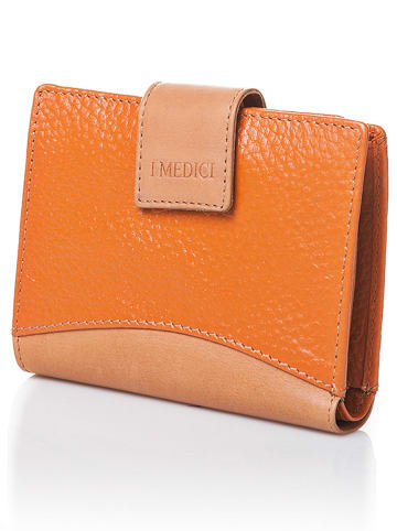 I MEDICI FIRENZE Leder-Geldbörse in Orange - (B)13 x (H)10,5 x (T)2,5 cm