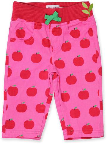 Toby Tiger Spodnie w kolorze różowo-czerwonym