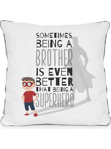 """The Wild Hug Poduszka """"Being a Brother"""" w kolorze białym ze wzorem - 45 x 45 cm"""