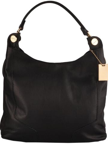 Classe Regina Leren schoudertas zwart - (B)29 x (H)32 x (D)12 cm