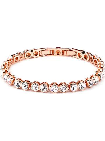 Park Avenue Rosévergold. Armkette mit Swarovski Kristallen