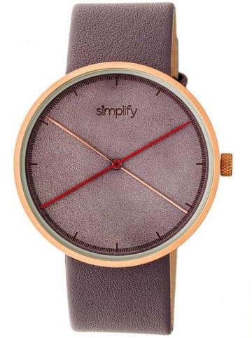 """Simplify Zegarek kwarcowy """"the 4100"""" w kolorze fiołkowo-złotym"""