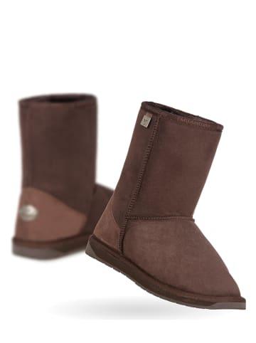 EMU Leren boots donkerbruin