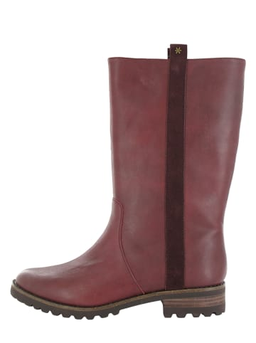 "Flip Flop Leder-Stiefel ""Cordoba"" in Bordeaux"