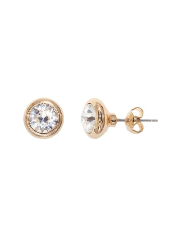 Van Crystals Pozłacane kolczyki z kryształami Swarovskiego