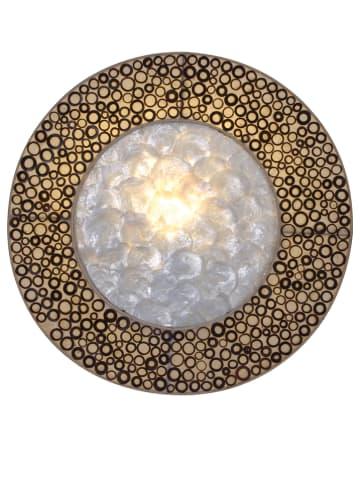 Näve Wandlamp lichtbruin - Ø 35 cm