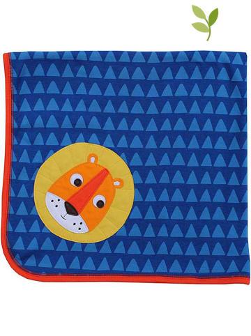 Toby Tiger Koc w kolorze niebiesko-granatowym - 70 x 70 cm