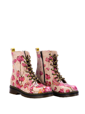 Goby Boots in Beige/ Pink/ Bunt