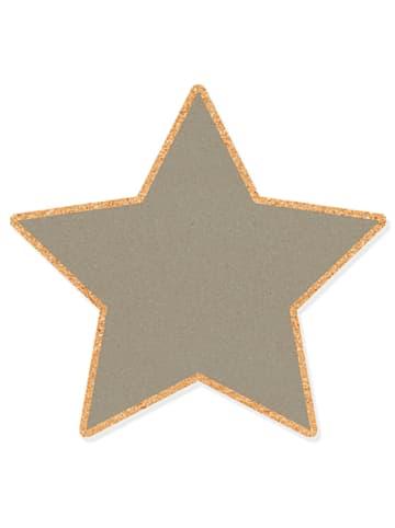 "The Wild Hug Pinnwand ""Star"" in Grau - (B)42 x (H)34 cm"