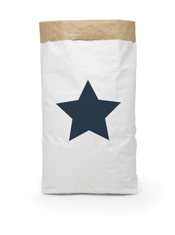 "Really Nice Things Aufbewahrungstüte ""Star"" in Weiß/ Blau - (B)60 x (H)90 x (T)13 cm"