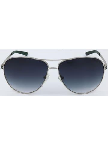 Guess Damen-Sonnenbrille in Silber/ Dunkelblau