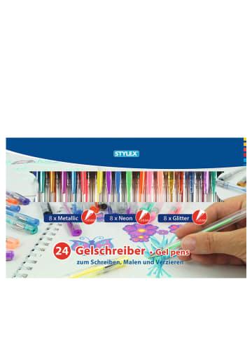 STYLEX Kolorowe żelopisy (24 szt.)
