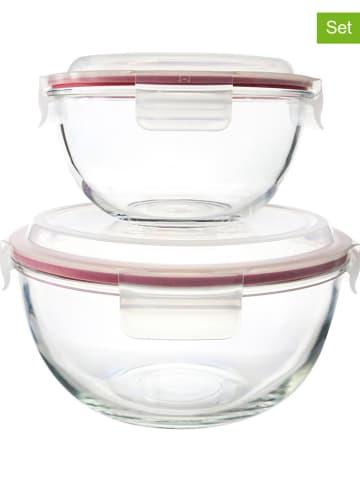 """Glasslock 2er-Set: Frischhaltedosen """"Bowl"""" in Rot"""