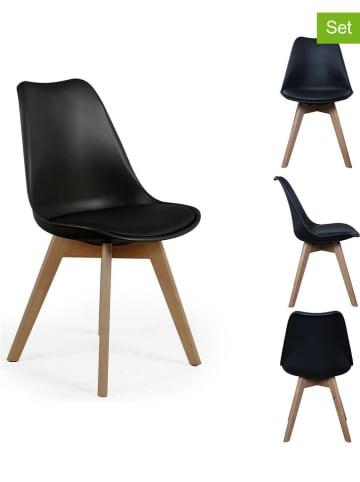 DOCK avenue Krzesła (2 szt.) w kolorze czarnym - 48 x 82,5 x 51 cm