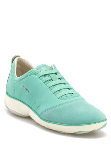 """Geox Leren sneakers """"Geox"""" turquoise"""