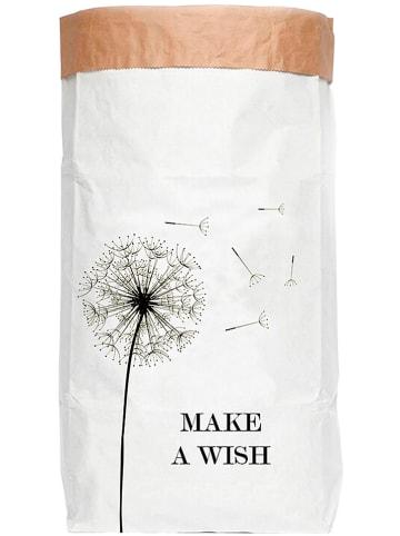 """Little nice things Aufbewahrungstüte """"Make a Wish"""" in Weiß/ Schwarz - (B)60 x (H)90 x (T)13 cm"""