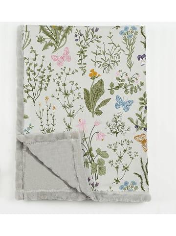 """Really Nice Things Woondeken """"Botanic"""" grijs/meerkleurig - (L)170 x (B)130 cm"""