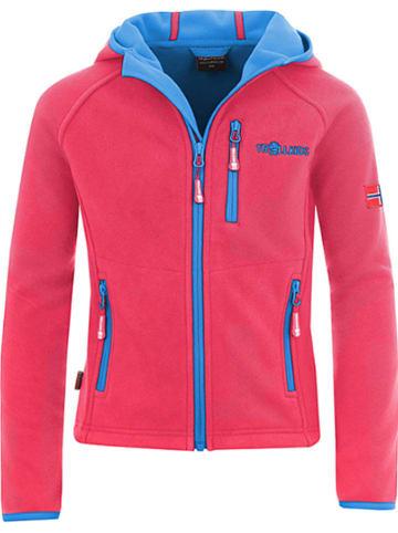"""Trollkids Fleece vest """"Borgund XT"""" fuchsia/lichtblauw"""