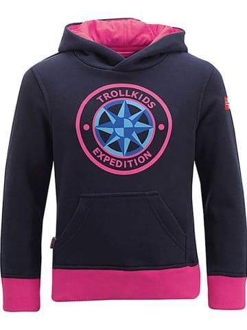 """Trollkids Bluza """"Oslo"""" w kolorze granatowo-różowym"""