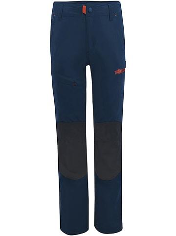 """Trollkids Spodnie trekkingowe """"Hammerfest"""" - Slim fit - w kolorze granatowym"""