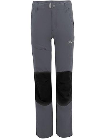 """Trollkids Spodnie trekkingowe """"Hammerfest"""" - Slim fit - w kolorze szarym"""